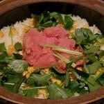 吉乃坐 - 本日の土鍋ごはん(たらこ,コーン,バター)(1合2000円×2)