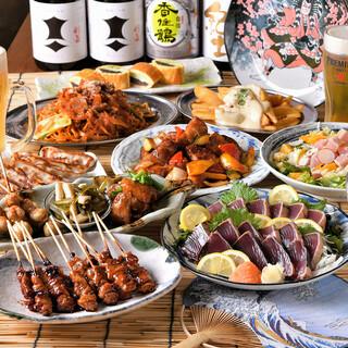 宴会コースは2,980円〜3,780円までの5種をご用意。