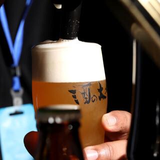 多彩な国産&海外ビール♪こだわりセレクトのワインも多数◎