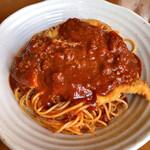 ヴァンカム - 料理写真:チキンカツレツとミートソース 1000円