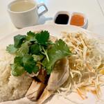天鶏 - 海南鶏飯700円