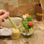 創作串揚げ専門店 ミラージュ - 料理写真:スティックサラダ
