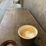 コーヒー ポトホト - 黒糖練乳カプチーノ②