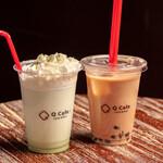 Q cafe - タピオカミルクティー&抹茶タピオカミルクティー