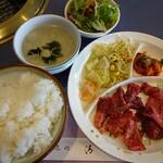 焼肉レストラン清光 - 料理写真:カルビランチ