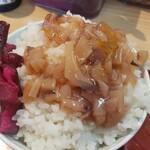 天ぷらめし 天之助 - 塩辛&柴漬け飯すごい大盛