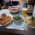 128484207 - 【2日目】女将の夕食横取りと大瓶ビール:700円(たぶん)