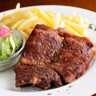 名物松阪牛稀少部位のステーキ