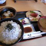 魚 千ふじ - しらすご飯定食