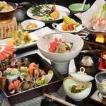 萩姫の湯栄楽館 - 【ご宿泊のお客様】月替わりの創作会席