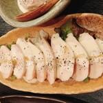 炭火串焼りあん - 蒸し鶏ゴルゴンゾーラ