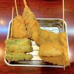 串かつ ひょうたん - 串かつ各種