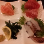 ちっご川 - 料理写真:刺身の3点盛り