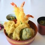 レストラン 海幸苑 - 海老天丼‼王道の海老天丼、海老好きにはたまりません。