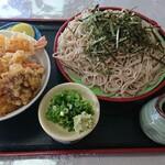 吾妻庵 - 料理写真:天丼とざるそばのセットお蕎麦大盛り