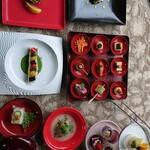 杉幸園 - 料理写真:4月のおまかせコースです。デザート付き 税込3500円です。