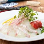 AGEHA - 4月限定 真鯛の湯引きのカルパッチョ