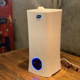 安定型次亜塩素酸ナトリウム加湿器設置致しました。