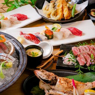 誕生日・記念日にも◎厳選寿司が充実した宴会コース