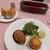 レストラン西櫻亭 - [料理] メンチカツレツとサーモンのガレット セット 全景♪W