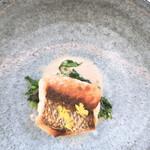 レストラン ペタル ドゥ サクラ - 桜鯛のグリル 帆立の焦がしバターソース