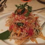 JIM THOMPSON'S Table Thailand - フレッシュ青パパイヤのサラダ