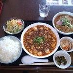 菜館 - 満腹セット 四川麻婆豆腐