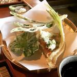 そば園 佐竹 - 旬菜+野菜天ぷら