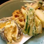 旨い料理・旨い酒 じょうじ - 日本一のシイタケとアスパラを使った野菜のてんぷらは絶品!