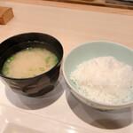 割烹 大田川 - お味噌汁とごはん
