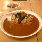 からいもん屋 - カレー(茄子)&バターライス