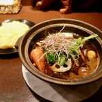 タイガーカレー - プルプル牛筋カレー 1200円 + スタミナスープ 130円