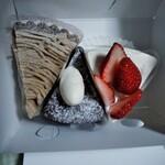 みんなのケーキ屋さん チョコット - 和栗タルトガトーショコラ苺もりもりショートケーキ美味