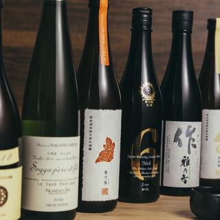 利き酒師厳選の日本酒、国産ワインを多数ご用意!