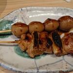 焼鳥のヒナタ - ねぎみ焼とうずら玉子焼