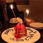 ブルー・ブランシュ - デザートをお誕生日仕様にしてくださいました