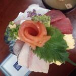 深川つり舟 - ミニ海鮮丼1680円