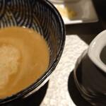 鶏soba 座銀  - 煮干しつけsobaスープ割♪