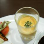kitchen俊貴 - 2020年4月再訪:冷製カボチャスープ☆