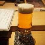 鮨 天使 - 生ビール