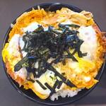 とんかつ 松のや - 料理写真:カツ丼550円+ご飯特盛り120円