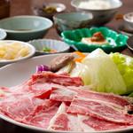 彩岳館 - 2100円ランチ 和牛の豆乳しゃぶしゃぶ御膳