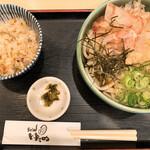 うどん ゆきの - 料理写真:ぶっかけ定食 700円