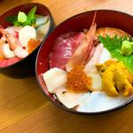北の板さん - 料理写真:元祖 おまかせ丼(1000円)+ウニ(500円)