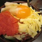128677867 - 明太子、もち、チーズ (お好み焼き)