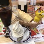 コメダ珈琲店 - クリームコーヒー590円(税込)+モーニングA(定番ゆで玉子)