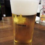つばめグリル - 生ビール