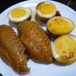 128690437 - 醬蛋(味付玉子)と鶏手羽煮