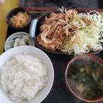 なかみち食堂 - しょうが焼き(ご飯少なめ)2020.04.01