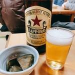 128697549 - サッポロラガービール大瓶[630時]とお通し[360円]